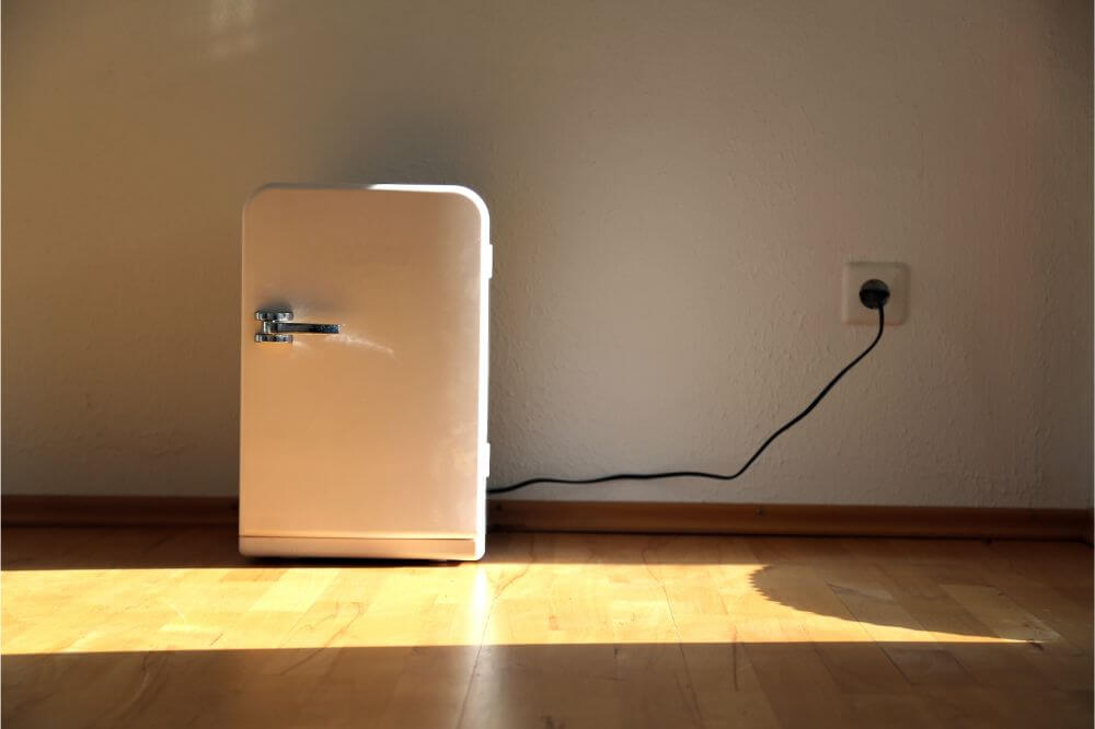 Fridge plugged into wall