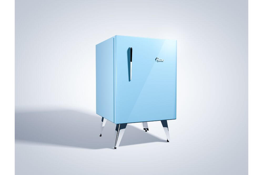 Blue Mini Fridge